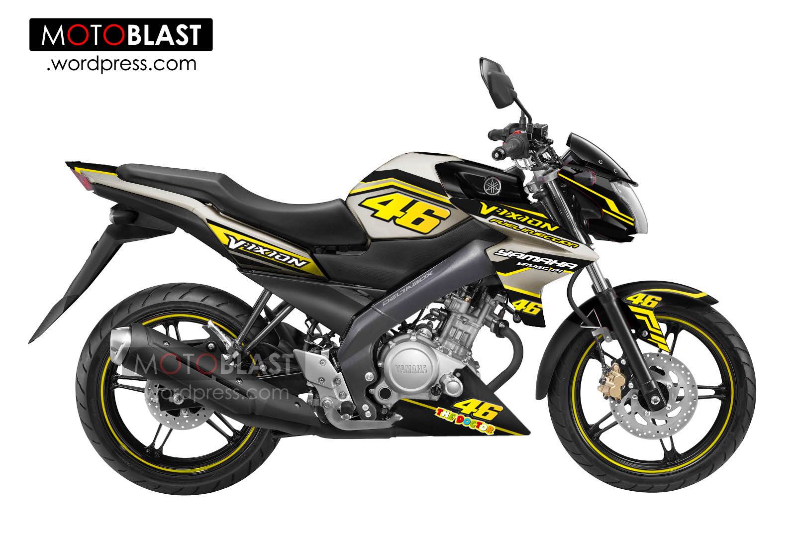 modif new vixion titanium gold valentino rossi 46!! | motoblast