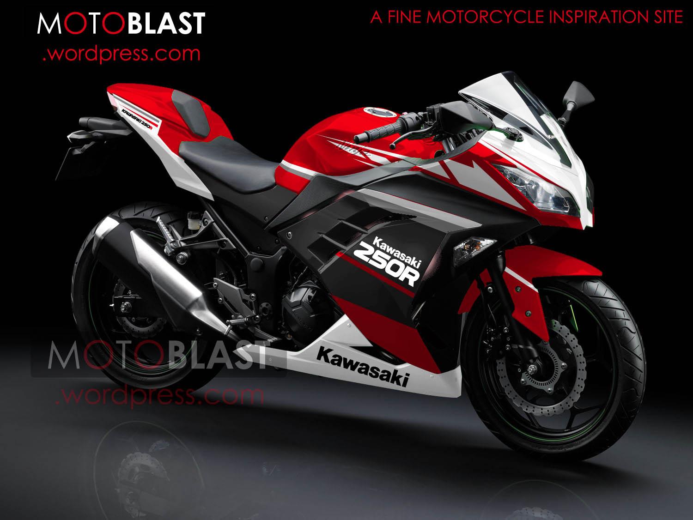 best modifikasi motor ninja 250 merah
