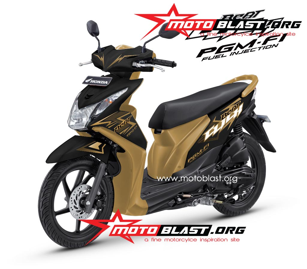 decal design  honda beat fi black click motoblast