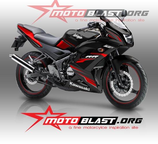 modifikasi motor ninja rr warna hitam terkeren