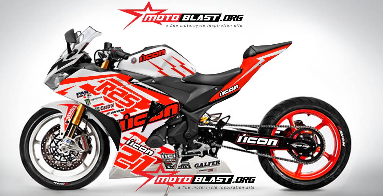 modif yamaha  icon drift motorcycle motoblast
