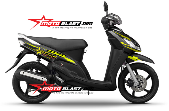 kumpulan modifikasi striping yamaha mio sporty