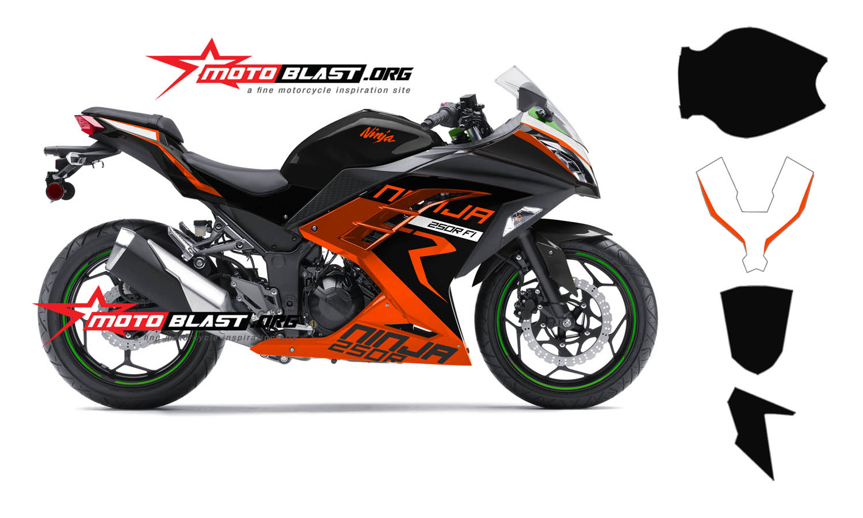 ninja  orange ktm racing  motoblast