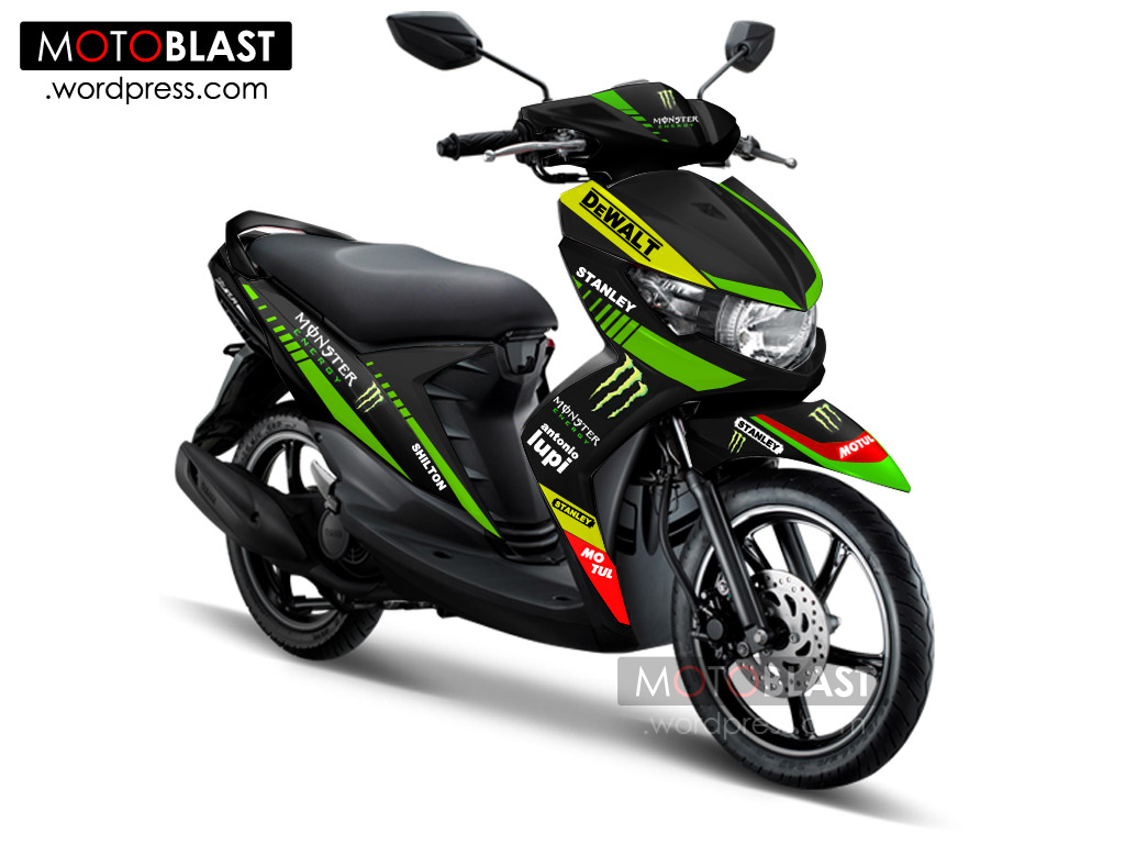 modifikasi mio soul gt black terkeren