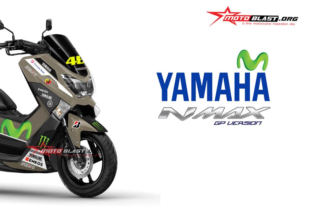 modifikasi yamaha nmax gun metal movistar motogp motoblast