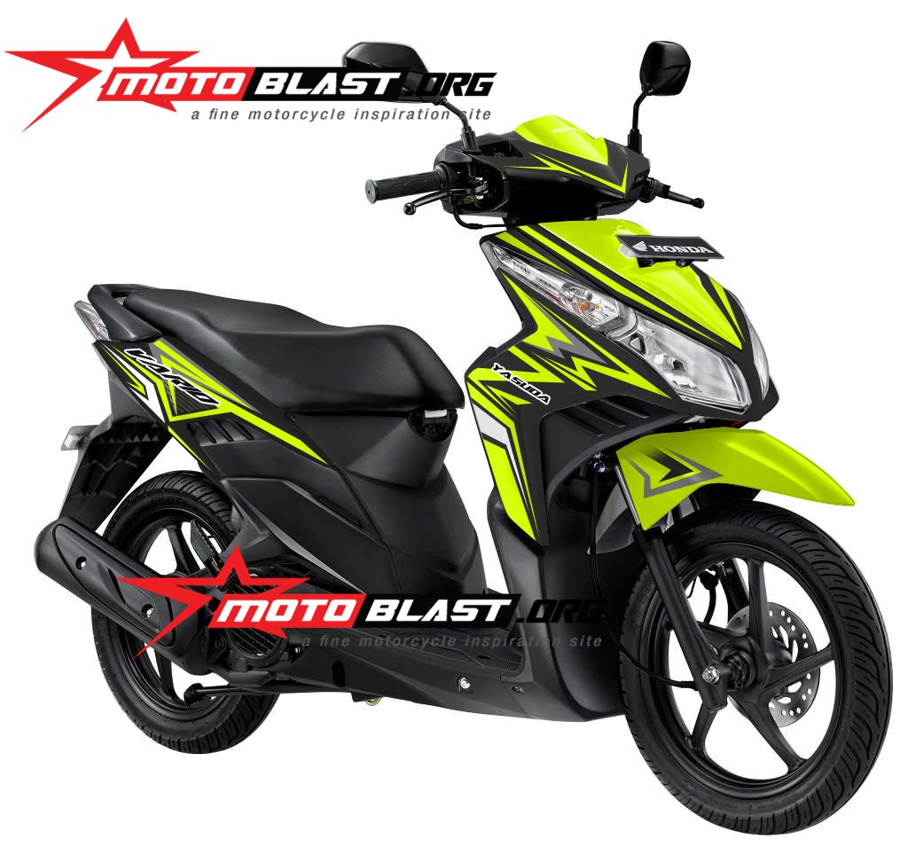 Modifikasi striping vario techno 110 black
