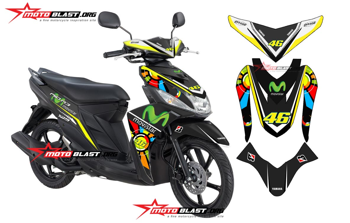 Top modifikasi mio m3 putih