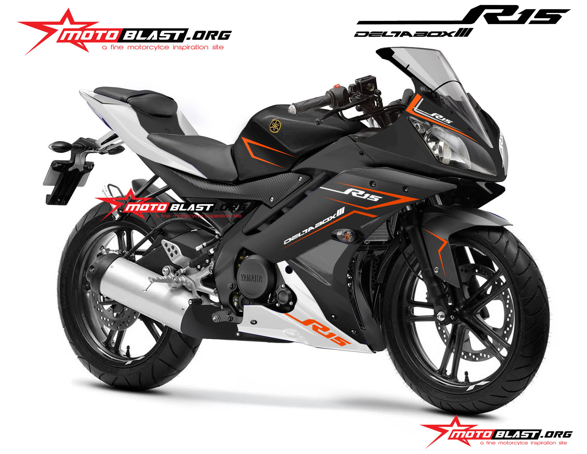 YAMAHA R15 BLACK SIMPLE motoblast