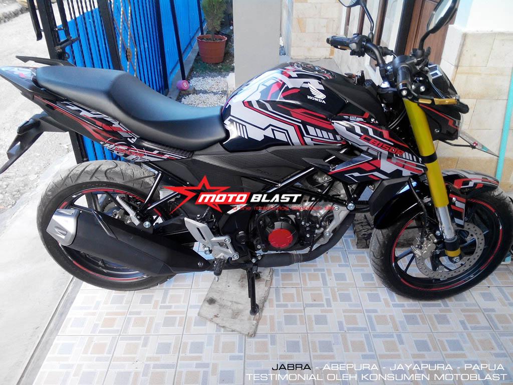 testimonial decal cb150r black motoblast