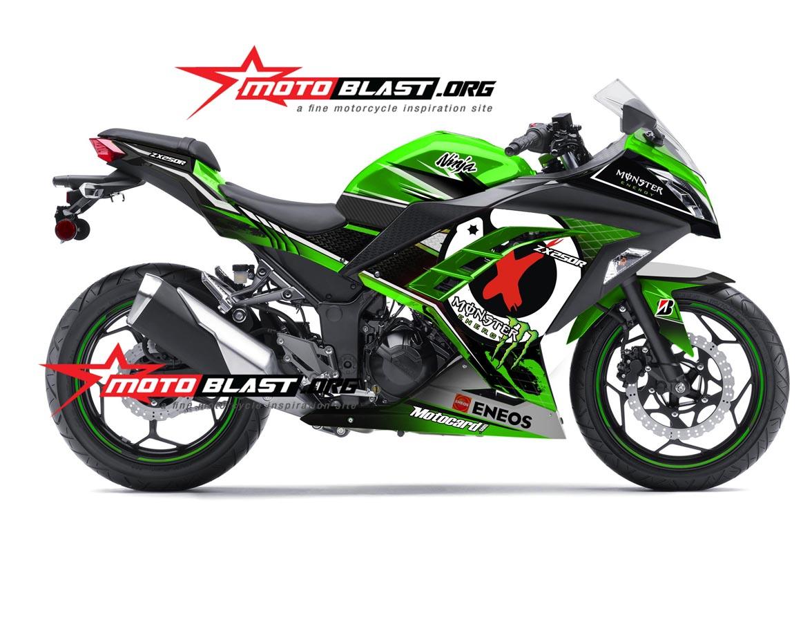 modifikasi kawasaki ninja 250 fi hijau sangar  tahun ini