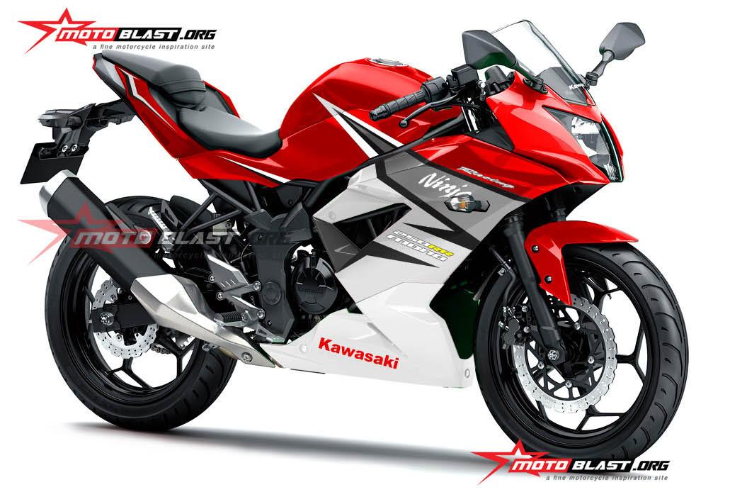 Modifikasi Striping Kawasaki Ninja 250RR Mono