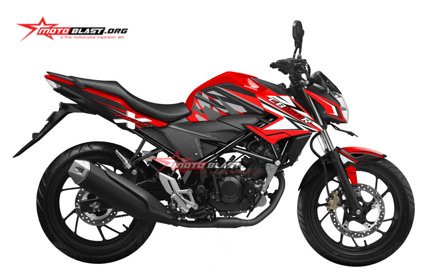 Graphic Kit Honda New CB150R RED Two tone