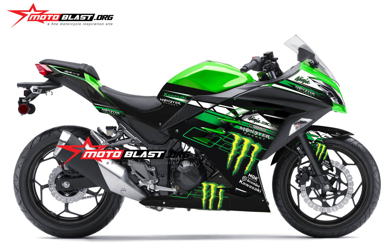Modifikasi Striping Kawasaki Ninja 250R Fi Monster SE