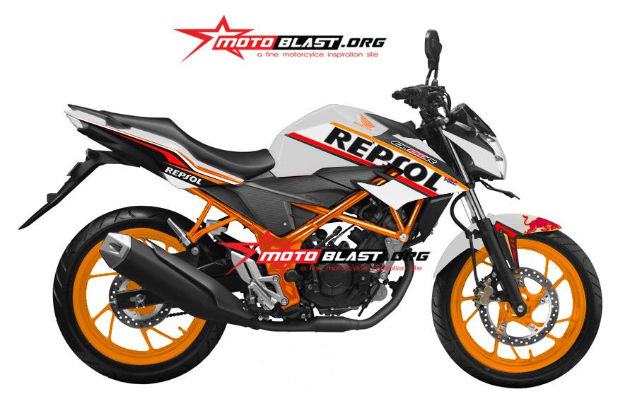 Graphic Kit Honda New CB150R White Repsol
