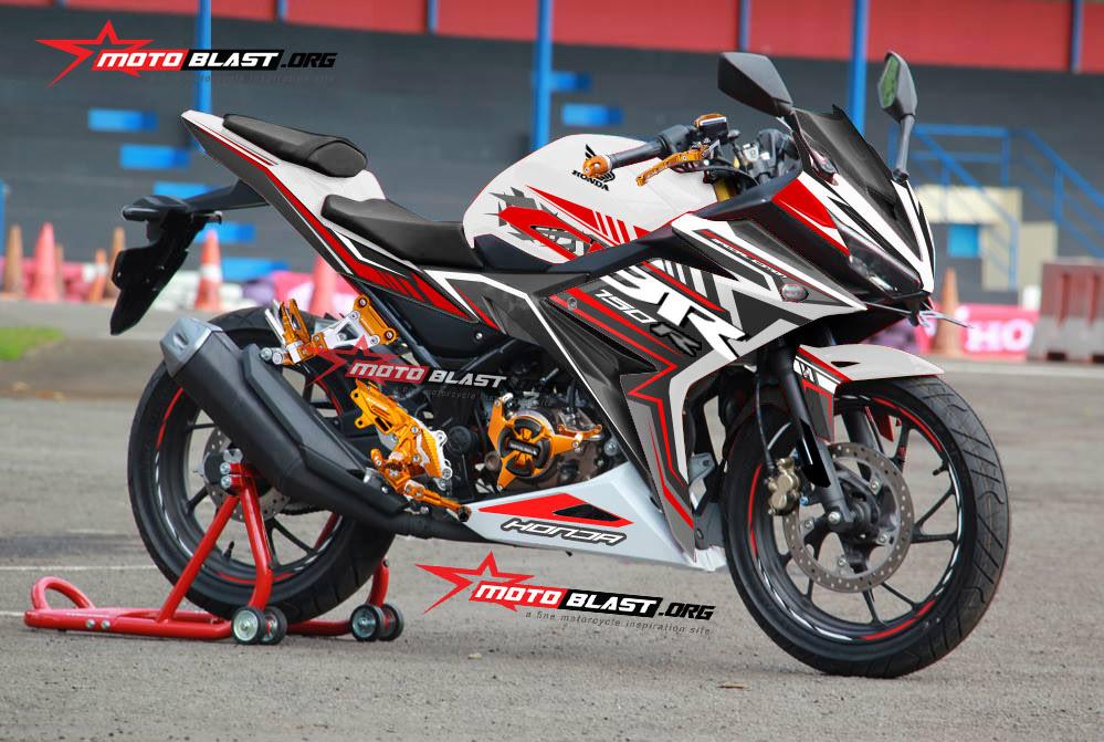 Graphic Kit Honda All New CBR150R White slash