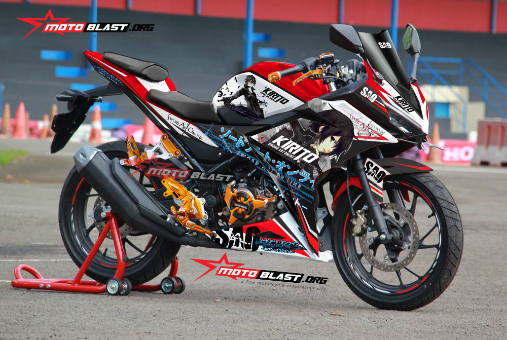 kawasaki ninja 150rr lama red monster energy motoblast