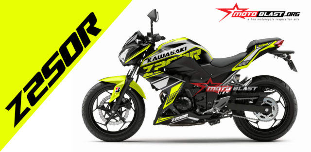 Graphic kit Kawasaki Z250R SImple sporty