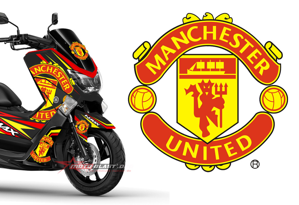 Graphic Kit Yamaha NMAX Black livery Manchester United