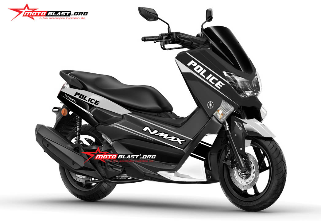 graphic kit yamaha nmax black police