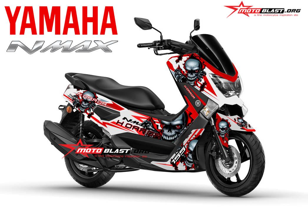 Graphic Kit Yamaha NMAX White SKull Horror