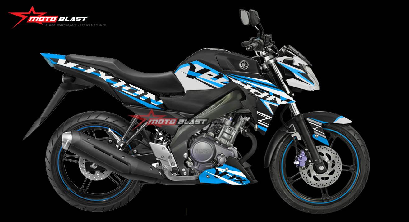 Graphic Kit Yamaha New Vixion Advance Black Fresh strip