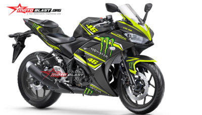 Graphic Kit Yamaha R25 Black VR46 Monster energy