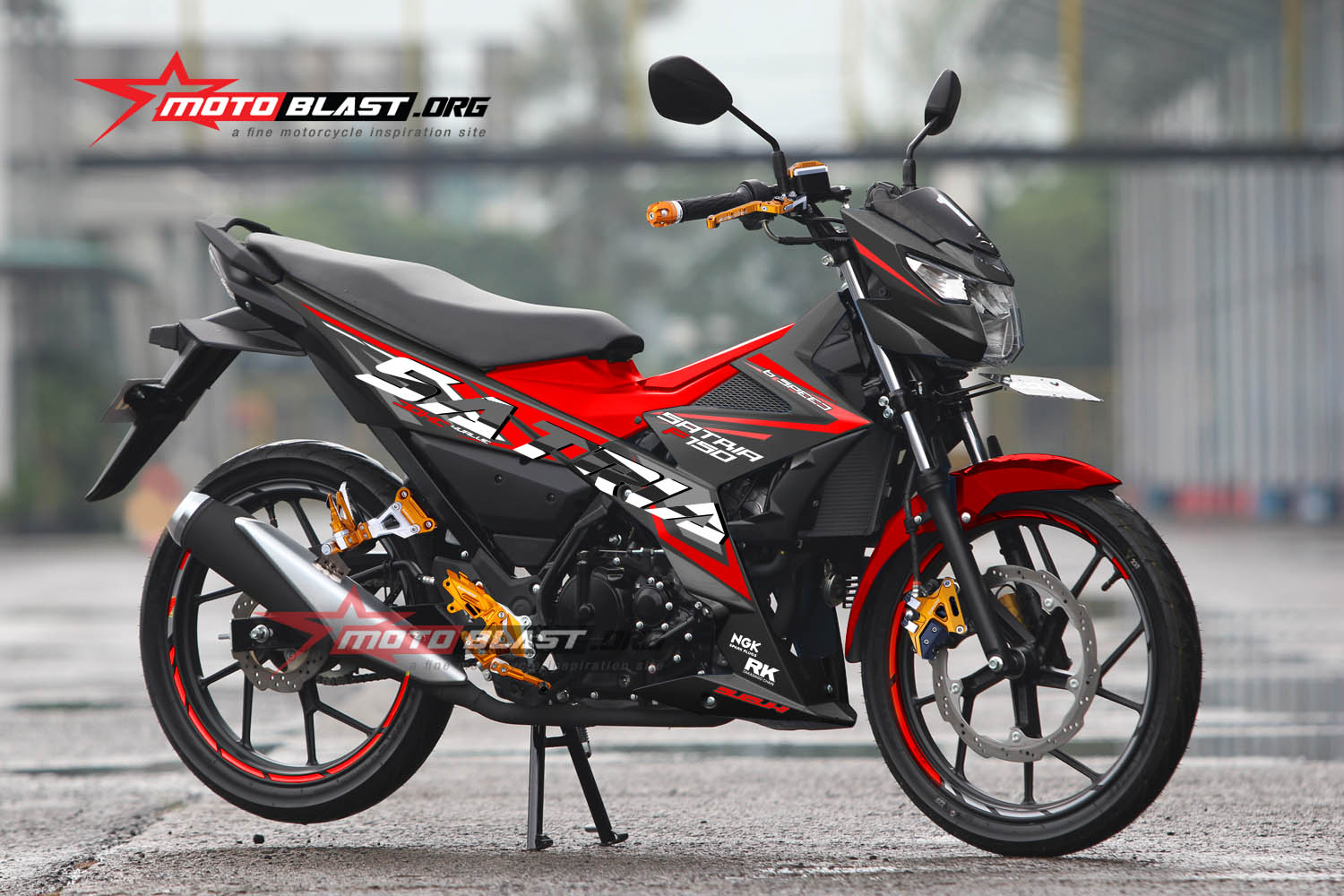 Graphic Kit Suzuki Satria FU 150 Fi RED Edition | MOTOBLAST