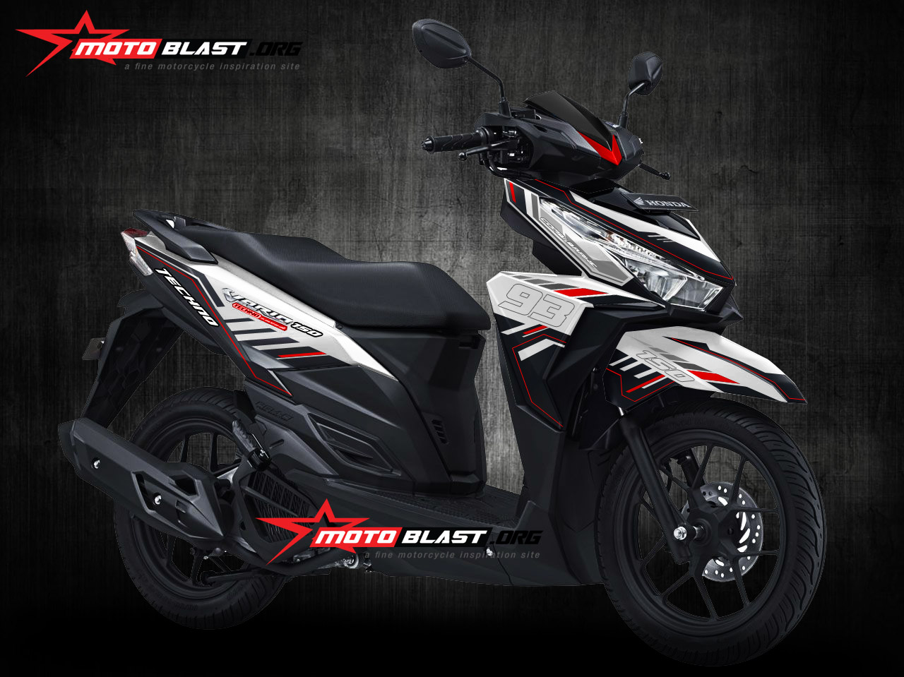 Yamaha R25 Black Simple Graphic kit dari Motoblast