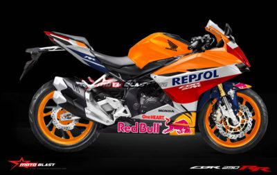 HOT Perdana Modifikasi Honda New CBR250RR dibuat Versi Repsol, ganteng tenan masbroo!!!