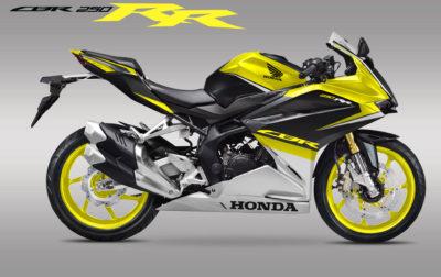 Perdana Modifikasi striping Honda all new CBR250RR Black Yellow Fresh