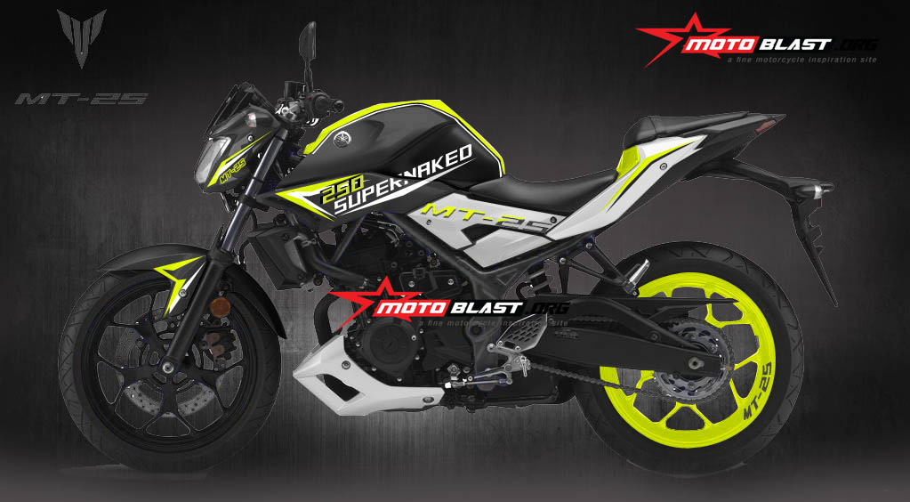 Modifikasi Yamaha MT-25 Black Yellow Spirit