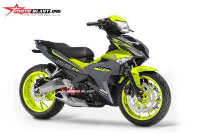 Modifikasi striping Yamaha MX King 150 BIG Elegant