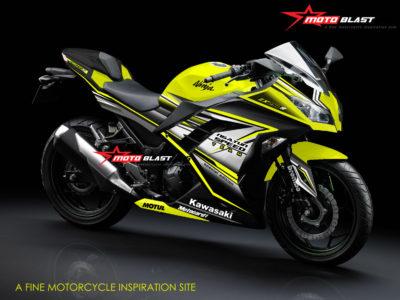 Kawasaki Ninja 250R Fi Black Super Yellow sangar dan Fresh