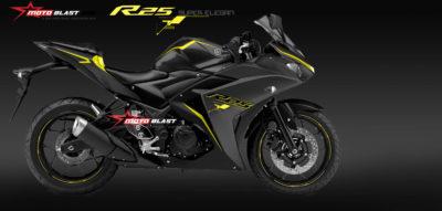 Modifikasi Striping Yamaha R25 Black Super elegant! sangar juga oey