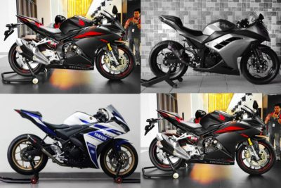 Kompare Fisik Awal 3 Motorsport 250cc twin silinder : CBR250RR – R25 – NINJA 250R Fi
