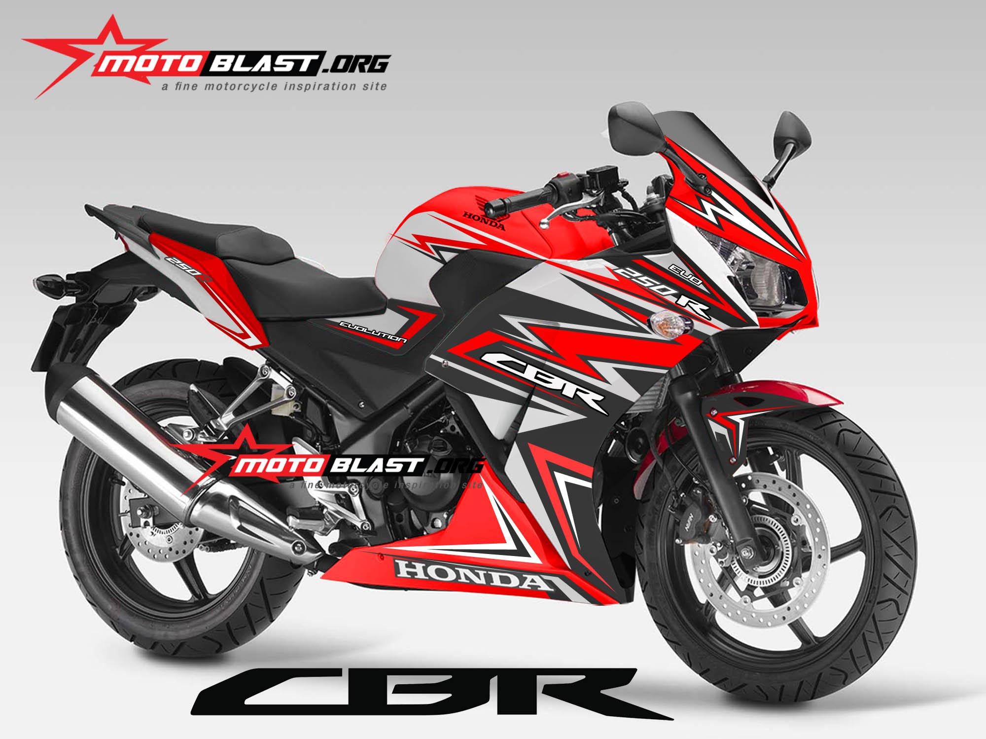 inilah Modif striping Honda CBR150R Lokal / CBR250R two eyes Thailand