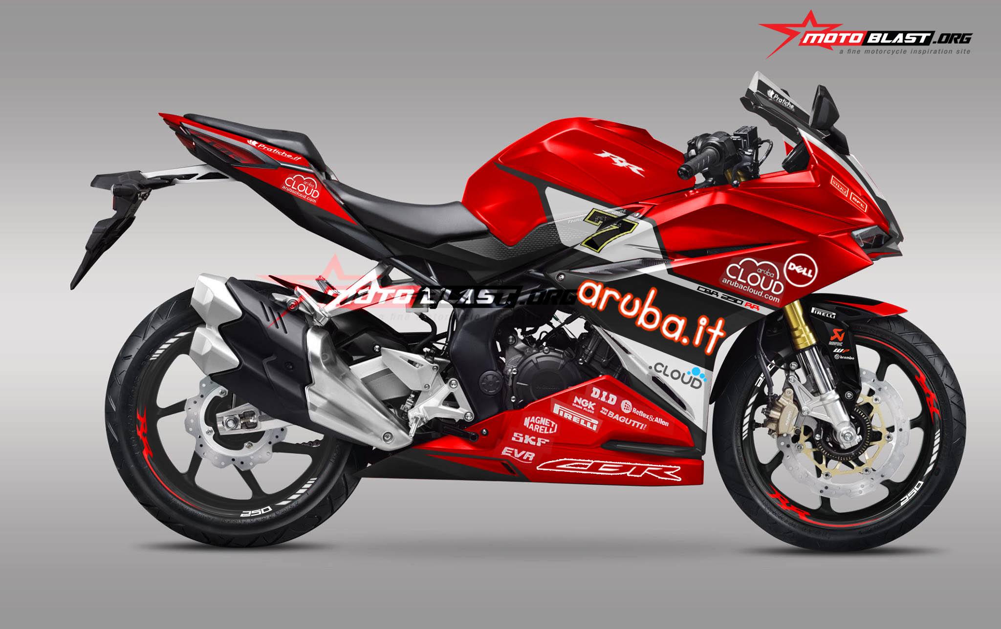 Modifikasi Striping Honda CBR250RR RED – Aruba it WSBK 2016