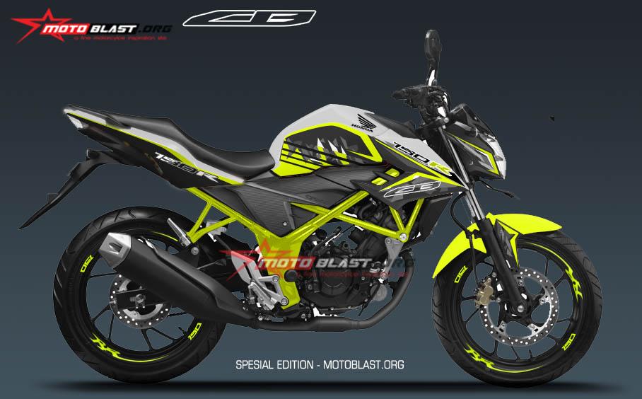 Modifikasi Honda New CB150R White SE Green lime