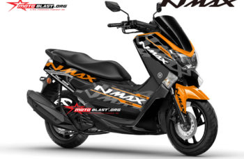 Modifikasi Striping Yamaha NMAX Black ala KTM RC