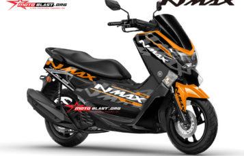 Modifikasi Striping Yamaha NMAX Black ala KTM RC