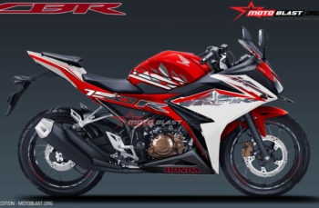 Modifikasi striping Special Edition New CBR150R Red and White