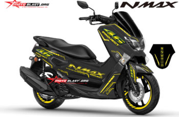 Modifikasi Striping Yamaha NMAX Black AGV VR46 Project Ver 2