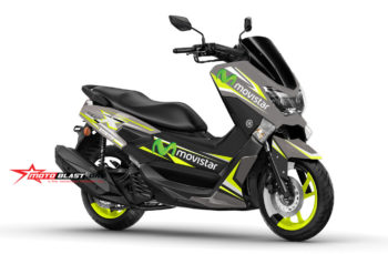 Modif striping Yamaha NMAX Gun Metal Movistar