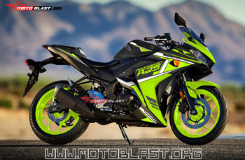 Modifikasi Striping Yamaha R25 Black Green line