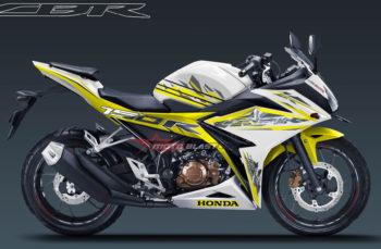 Modifikasi Striping Honda New CBR150R White