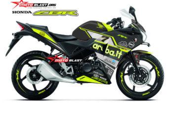 Modifikasi Striping Honda CBR150R Thailand Black Aruba IT Green lime
