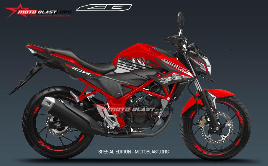 new CB150R Red SE , Modifikasi decal stiker fullbody New CB150R Red SE