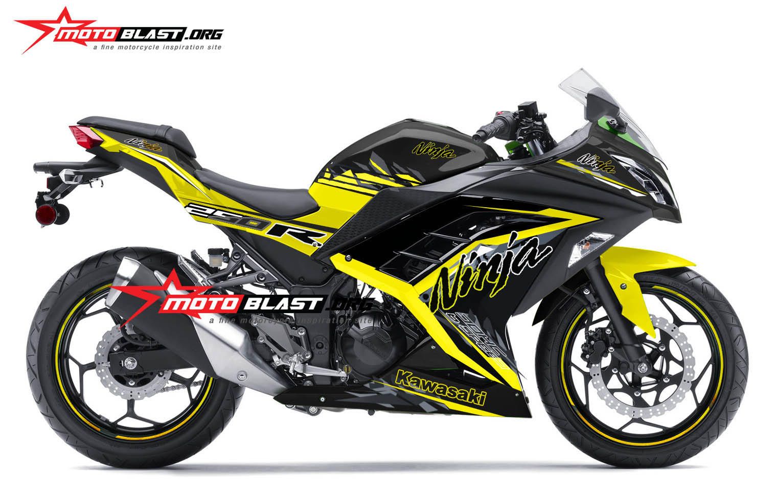 Kawasaki NInja 250R Fi Black Yellow SE