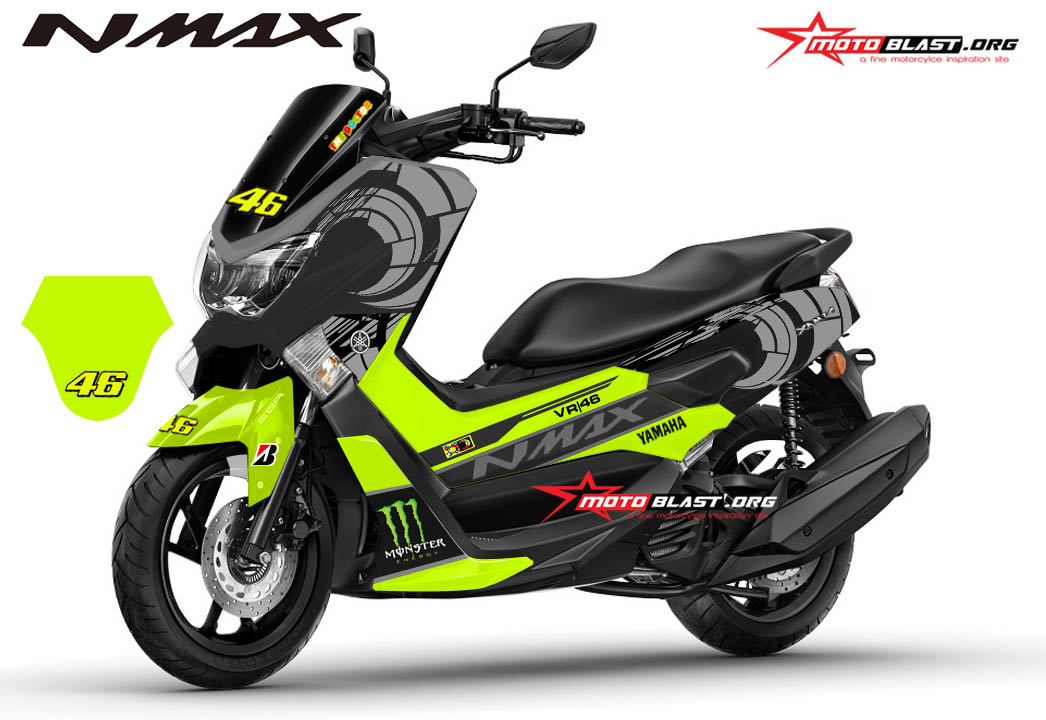modifikasi striping yamaha nmax black sun moon vr winter