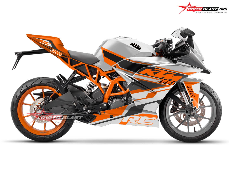 Modifikasi Striping KTM 390 White RC